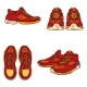 Vector Set of Cartoon Running Shoes - GraphicRiver Item for Sale
