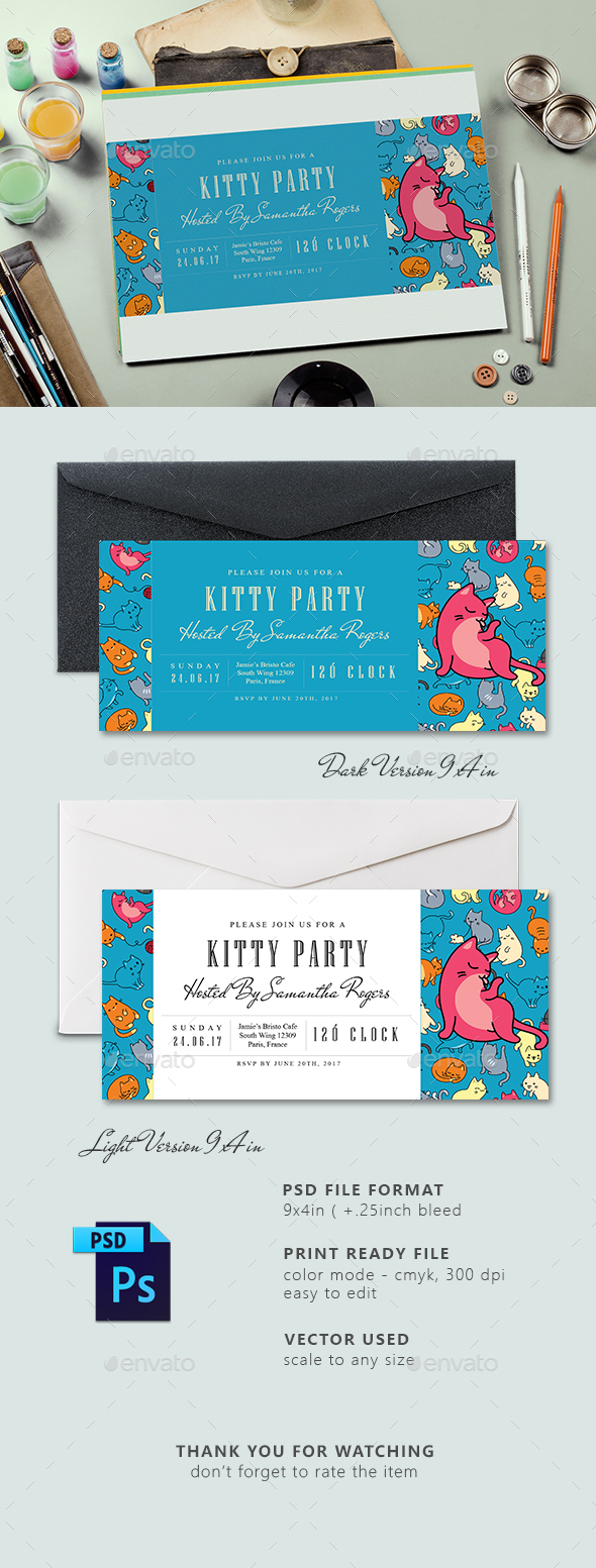 Ticket Kitty Party Invitation Card - Invitations Cards & Invites