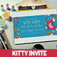 Ticket Kitty Party Invitation Card - GraphicRiver Item for Sale
