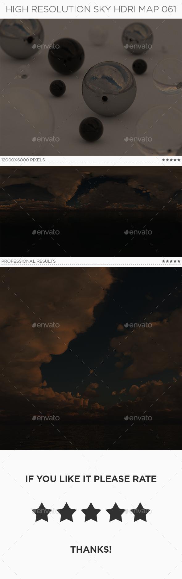 High Resolution Sky HDRi Map 061 - 3DOcean Item for Sale