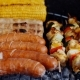 Sausages and Vegetables Cooking on Grill - VideoHive Item for Sale