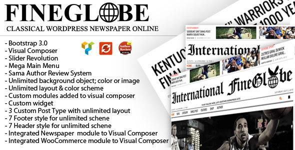 Fineglobe - Classic Newspaper Theme