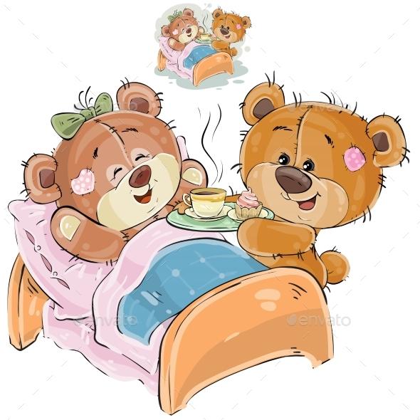 Loving Brown Teddy Bear - Animals Characters