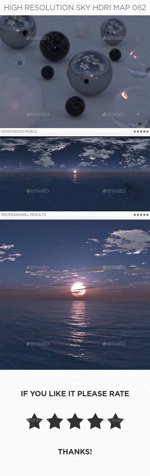 High Resolution Sky HDRi Map 062 - 3DOcean Item for Sale
