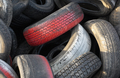 Dump used car tires