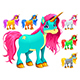 Set of Cartoon Unicorns - GraphicRiver Item for Sale