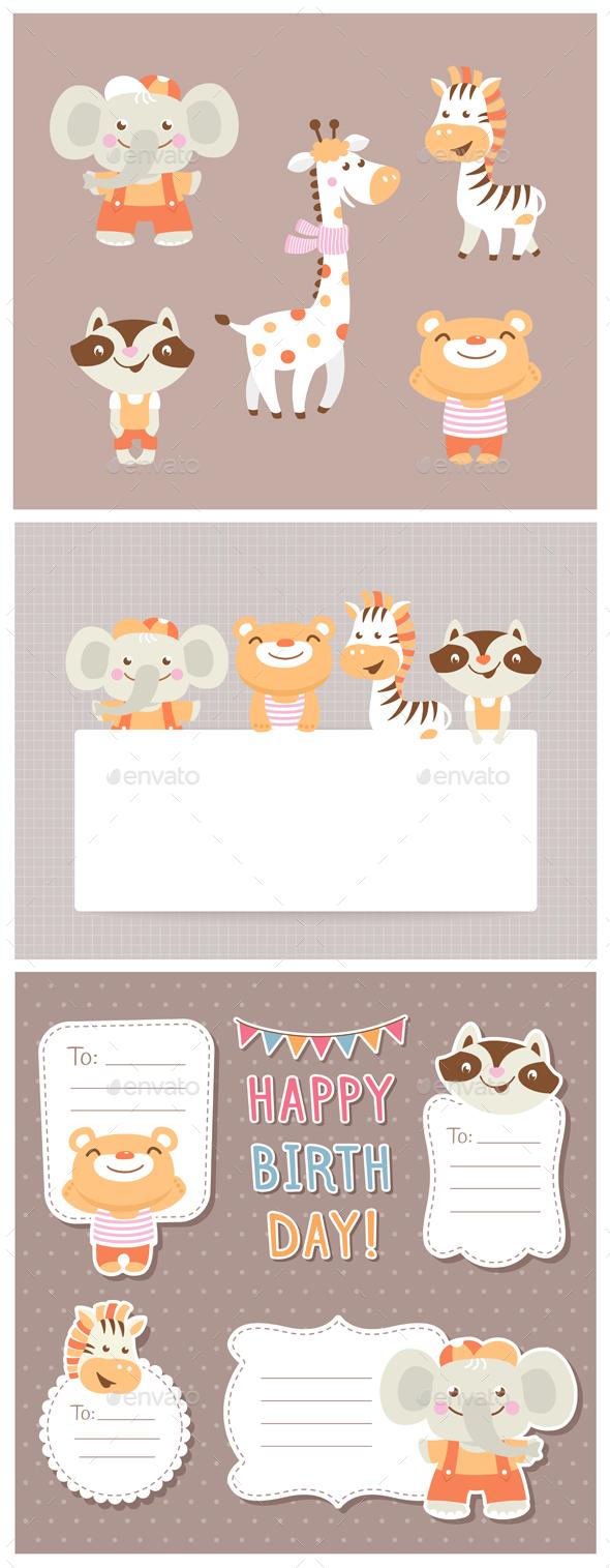 Cartoon Zoo - Animals Characters