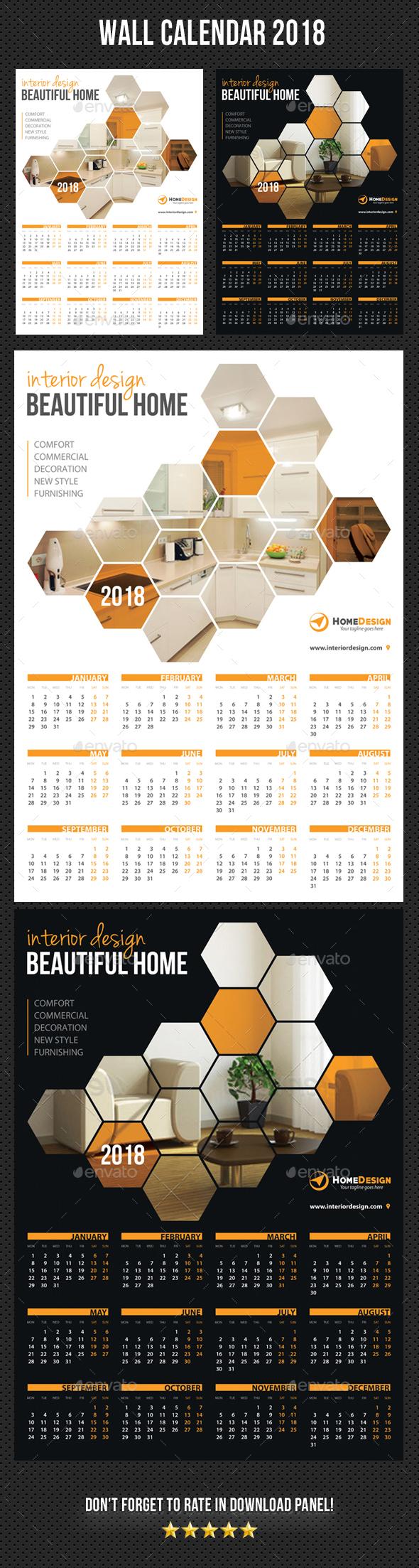 Wall Calendar 2018 V04