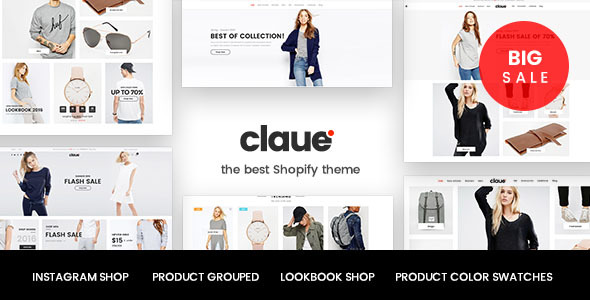 Claue – Responsive, Minimalist Boutique Shopify Theme