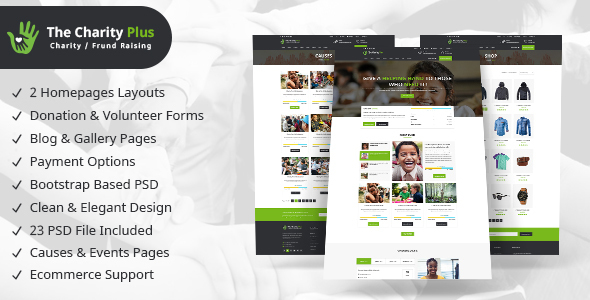 Charity - Non profit Organization PSD Template - Charity Nonprofit