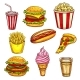 Fast Food Lunch Takeaway - GraphicRiver Item for Sale