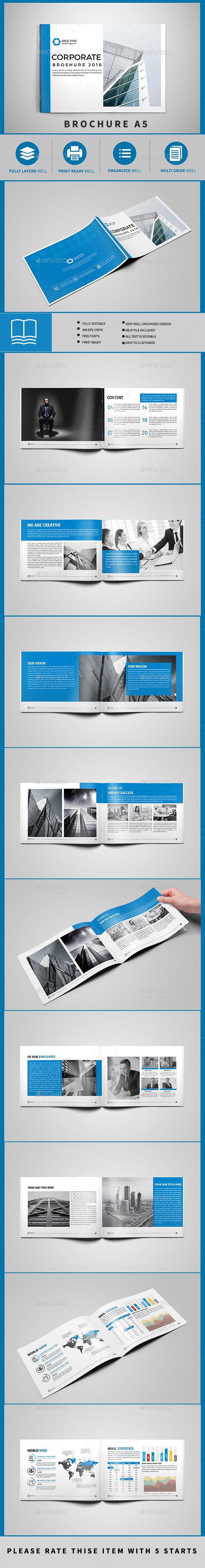 Brochure Template A5 - Brochures Print Templates