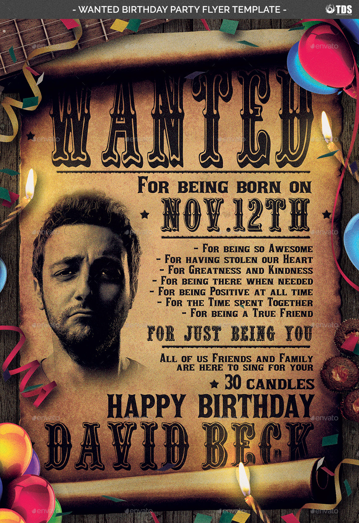 happy birthday flyer template