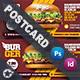 Fast Food Burger Postcard Templates - GraphicRiver Item for Sale