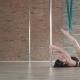 Young Girl Training Pole Dance