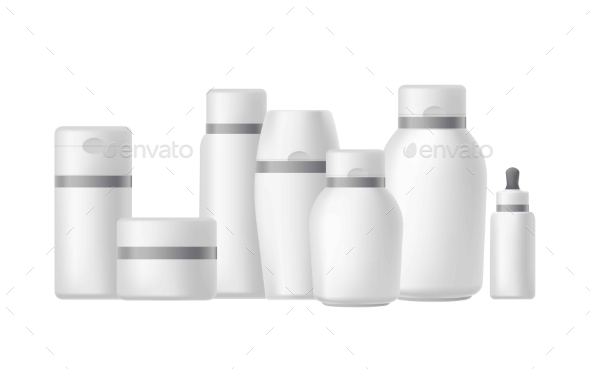 Different Bottles and Jars for Cosmetics - Health/Medicine Conceptual