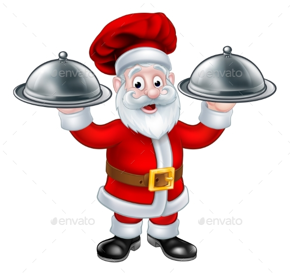 Santa Christmas Chef Character - Food Objects