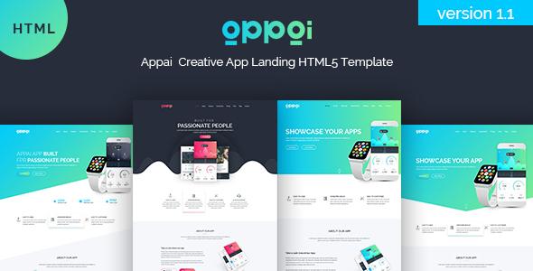 APPAI App Landing Page - Technology Site Templates