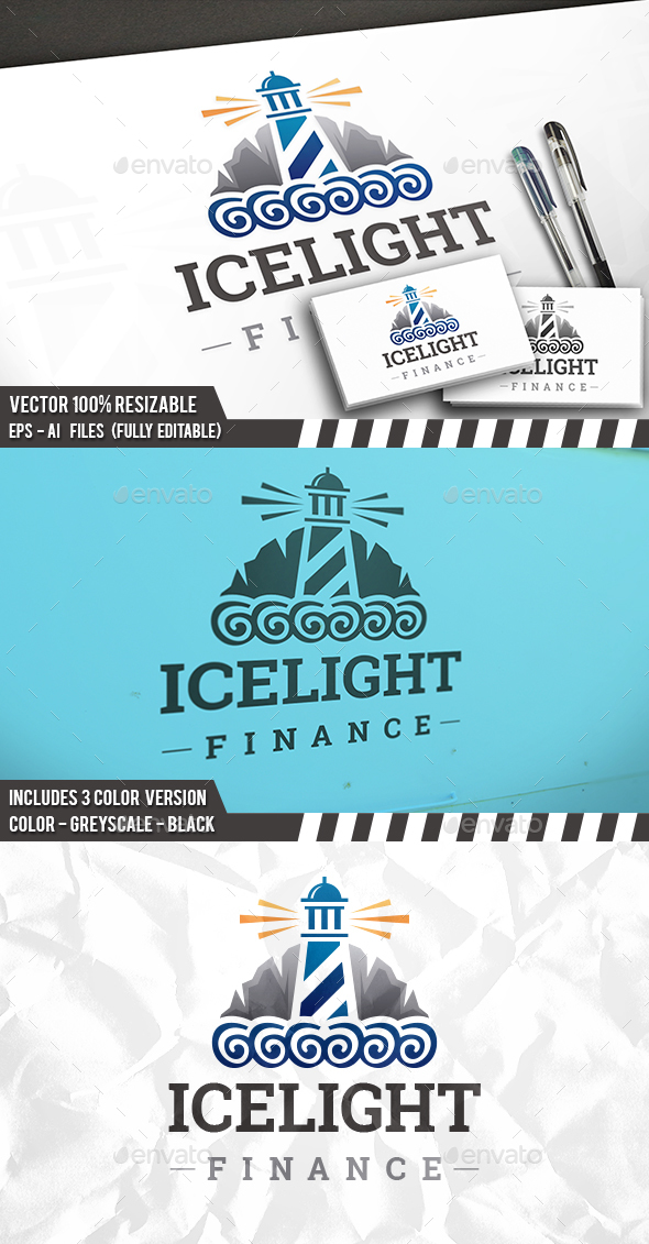 Iceberg Lighthouse Logo - Buildings Logo Templates