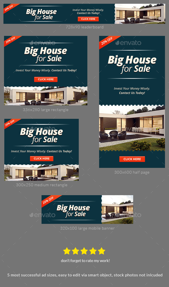 Property For Sale Banner Ad Template - Banners & Ads Web Elements