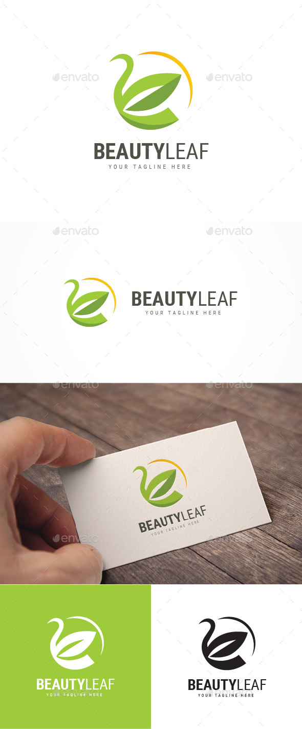 Beauty Leaf Logo - Nature Logo Templates