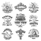 Set of Vintage Surfing Labels - GraphicRiver Item for Sale