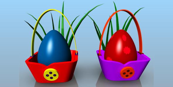 Egg Basket - 3DOcean Item for Sale