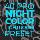 The Visual Artist Night Color Preset Series - GraphicRiver Item for Sale