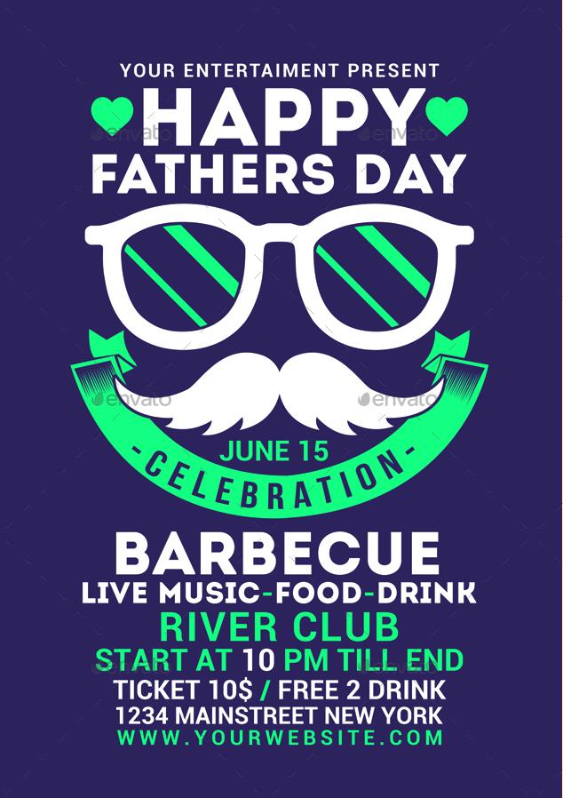 Fathers Day Flyer by Muhamadiqbalhidayat   GraphicRiver