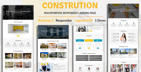 Image of CONSTRUCTION - Multipurpose Responsive HTML Landing Page