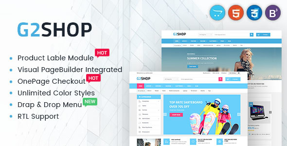 Digital eCommerce OpenCart Theme - G2shop - Shopping OpenCart
