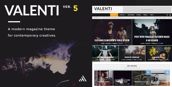 Valenti - Modern WordPress magazine theme for newspaper news sites in 2015