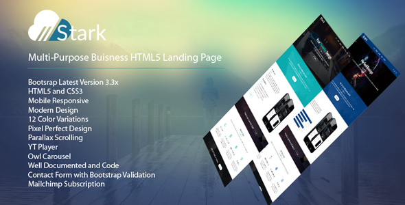 Stark – Responsive HTML5 One Page Business Template
