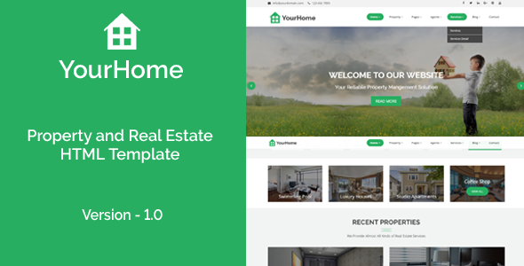 YourHome – Property and Real Estate HTML Template