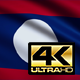 Flag 4K Laos On Realistic Looping Animation With Highly Detailed Fabric - VideoHive Item for Sale