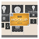 Back Wall Banner & Posters Mock-Up - GraphicRiver Item for Sale
