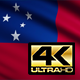 Flag 4K Samoa On Realistic Looping Animation With Highly Detailed Fabric - VideoHive Item for Sale