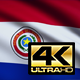 Flag 4K Paraguay On Realistic Highly Detailed Fabric - VideoHive Item for Sale