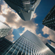 Skyscrapers with Running Clouds - VideoHive Item for Sale
