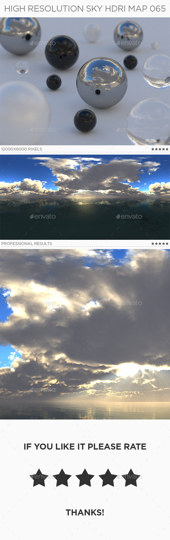 High Resolution Sky HDRi Map 065 - 3DOcean Item for Sale