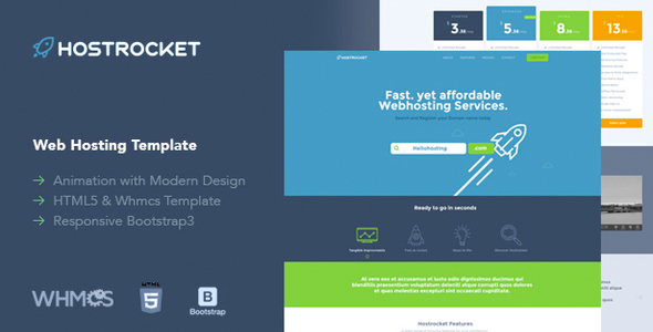 Host Rocket WHMCS & HTML Template - Hosting Technology