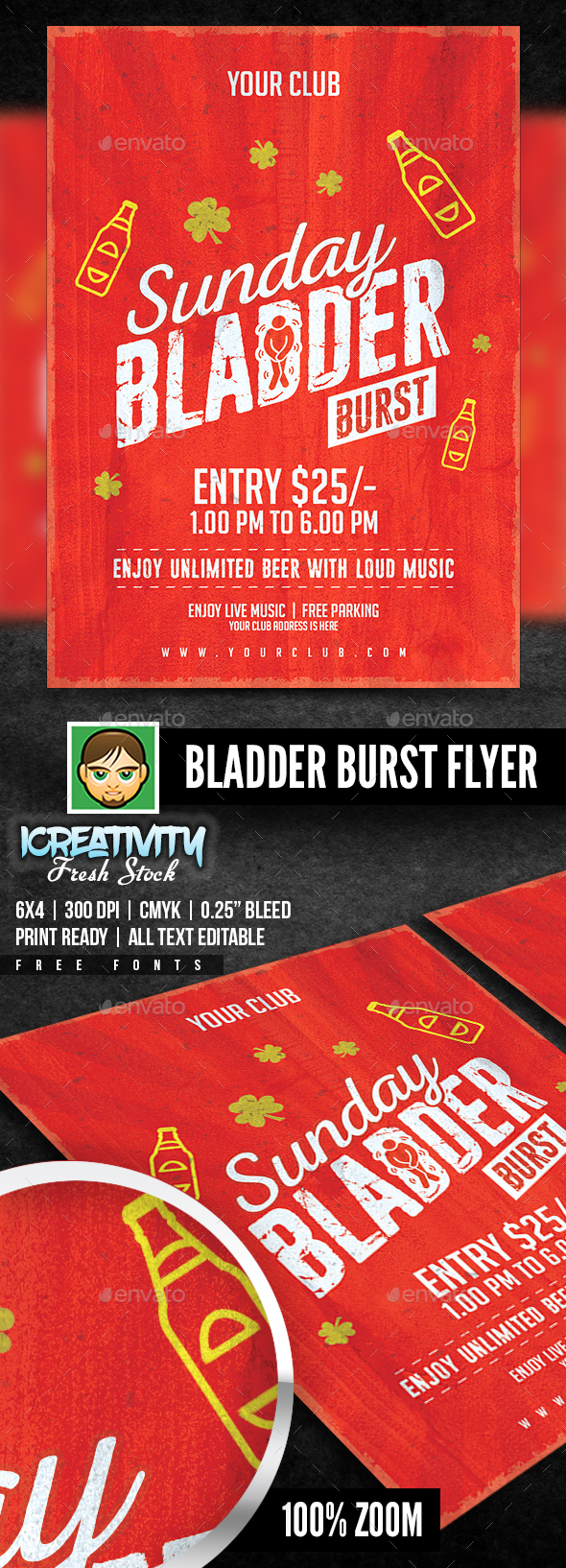 Bladder Burst Flyer - Flyers Print Templates