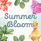 Summer Bloom Watercolor Set - GraphicRiver Item for Sale