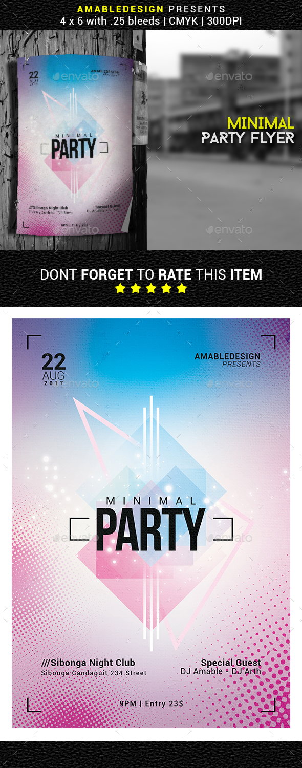 Minimal Party Flyer - Events Flyers