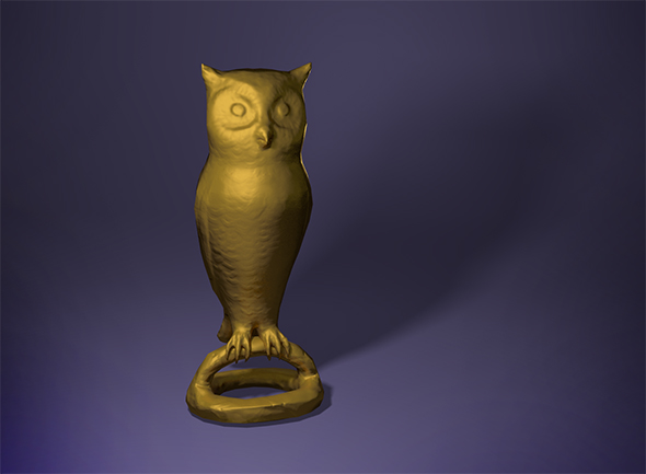 Bronze owl statuette - 3DOcean Item for Sale