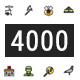 4000 Thin Line Icon - 2 Style - GraphicRiver Item for Sale