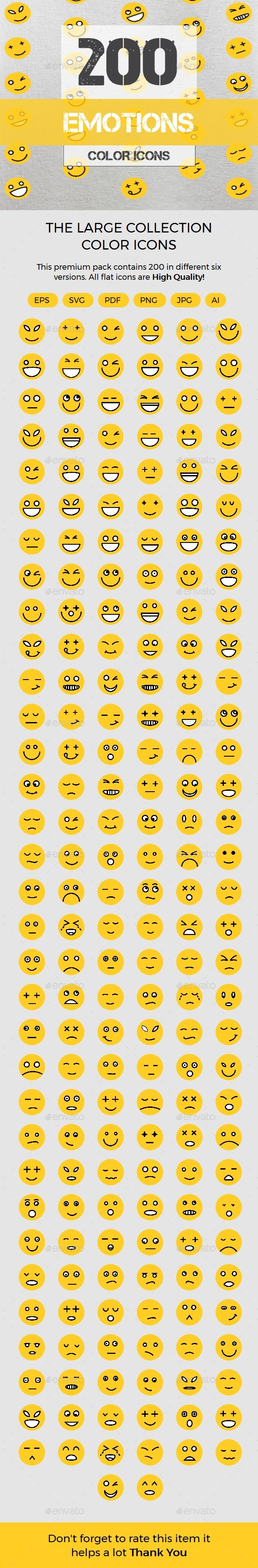 Emotions color line icons - Icons