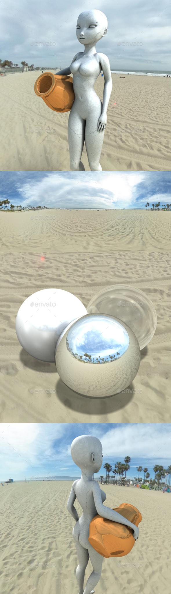 Bright Cloudy Venice Beach HDRI - 3DOcean Item for Sale