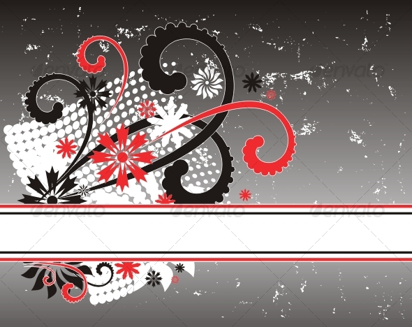 Floral frame - Backgrounds Decorative