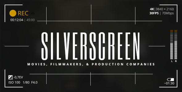 Silverscreen – A Theme for Movies, Filmmakers, and Production Companies